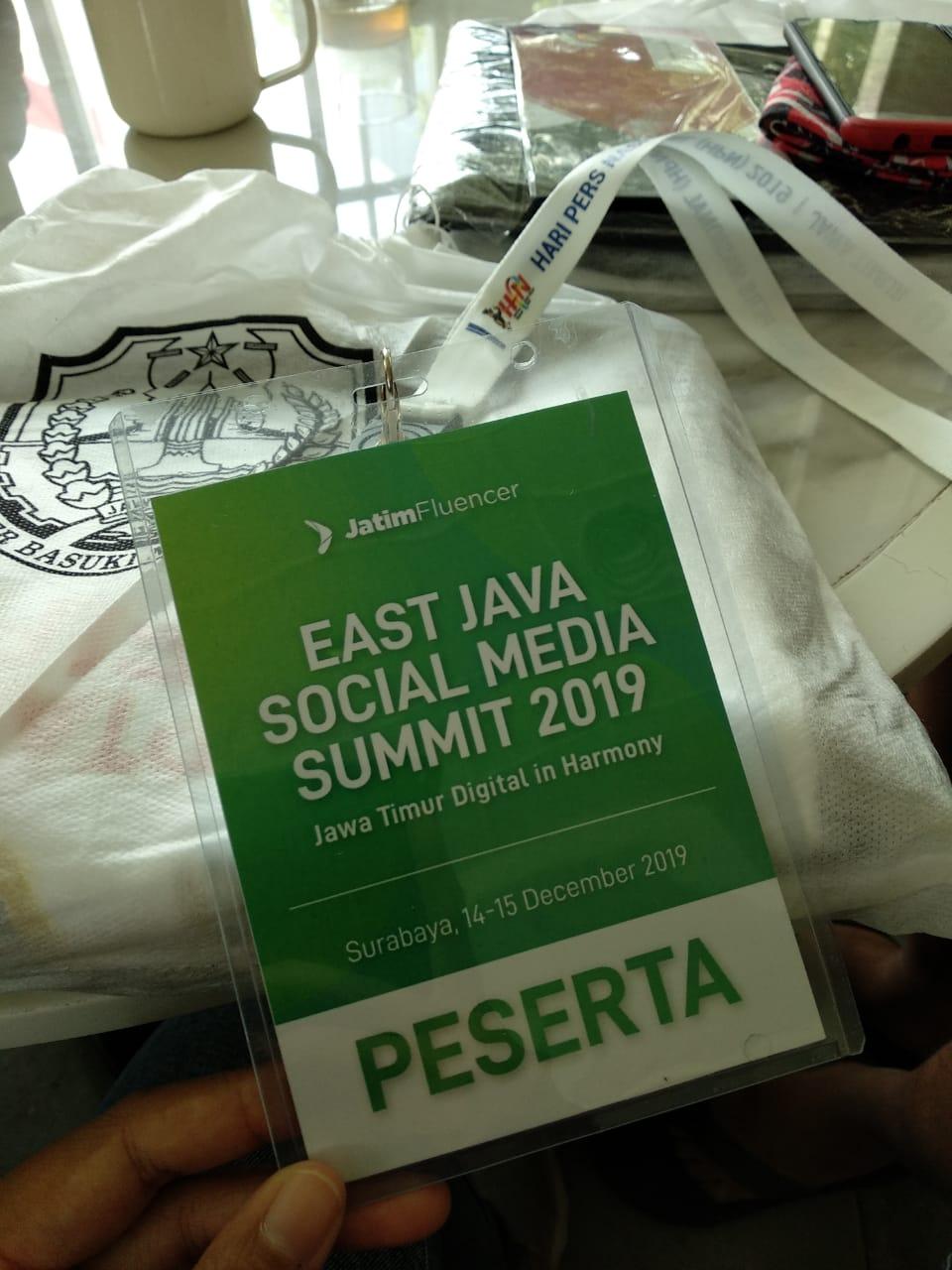 East Java Social Media Summit 2019. Dokumentasi pribadi Rizky Almira